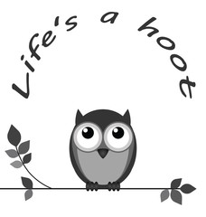 Life is a hoot owl message