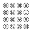 web icons on circles collection