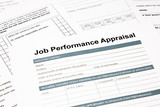 job performance appraisal form for business poster
