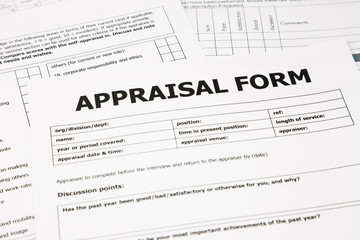 appraisal form and paperwork