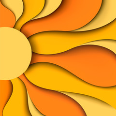 Sun. Vector illustration © megapixelina