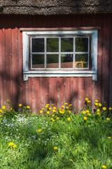 Old window on the barn