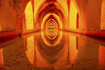 Baths Banos Dona Maria de Padilla Alcazar Royal Palace Seville