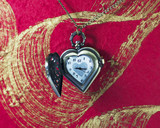 Memories of Love in Heart-shaped Pocket Watch Necklace Pendant