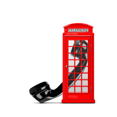 Telephone box and handset