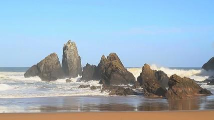 Playa con olas 1