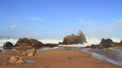 Playa con olas