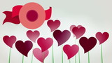 Valentine's Day. Heart flowers animated.