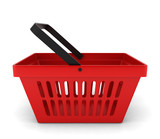 Red plastic basket