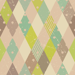 Retro diamonds seamless pattern