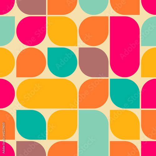 Retro abstract seamless pattern - 61229650