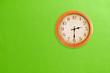 Leinwanddruck Bild - Clock showing 02:30 on a green wall