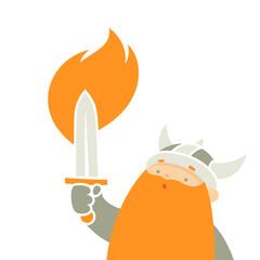 Viking holding sword