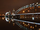 Great Piter bridge in night