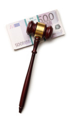 Judge's gavel and money