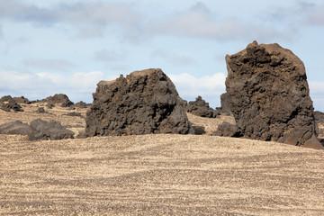 Lava vulcanica e pomice in islanda