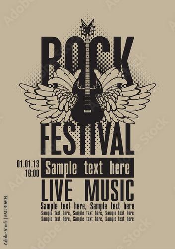 billboard-rock-festival-z-gitara-elektryczna-ze-skrzydlami