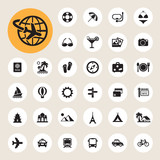 Fototapety Travel and vacation Icons set