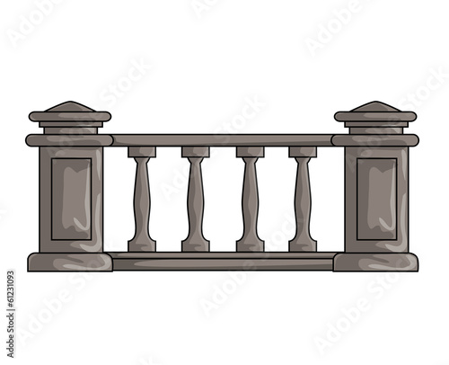 fence isolated illustration