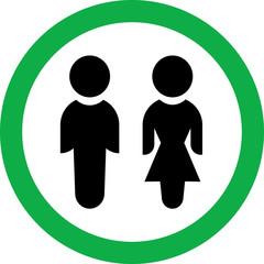 Круглый векторный знак с изображением людей