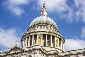 Dome of St Paul's Cathedral, London, UK