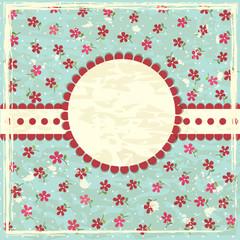 Vintage grunge floral background