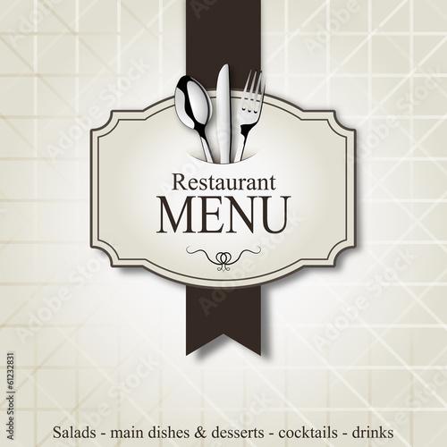 Restaurant menu - 61232831