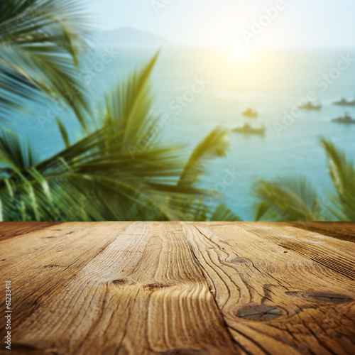wood textured backgrounds on the Goa landscape © ZoomTeam