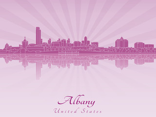 Albany skyline in radiant orchid