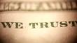 In God we trust on dollar bill