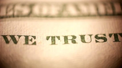 In God we trust on dollar bill