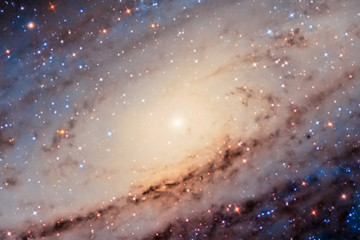 Andromeda Galaxy Center captured with an amateur telescope