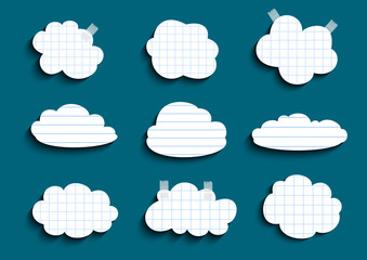 Lined and checked clouds collection