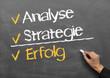 analyse, strategie, erfolg