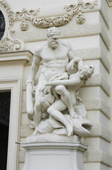 Hercules fighting Hyppolyte