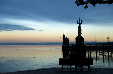 Hafen in Konstanz - Bodensee - Deutschland