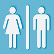 Man and woman bathroom symbol