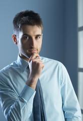 Attractive businessman posing