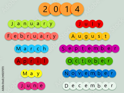 2014 Months on fun circles