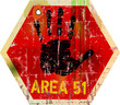"warning sign "" area 51 ""   , vector illustration"