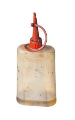 Old greasy oil can