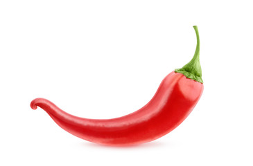 Red chili pepper isolated on white