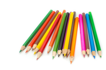 Colorful Pencils in white background