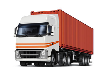 truck transports container