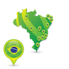 Brasil Soccer green map and match locations