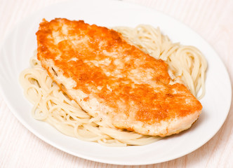 chicken breast with spaghetti