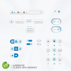 Website Clean Sky Design With Sticker