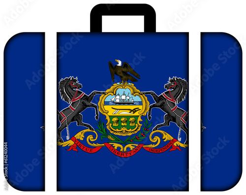 Suitcase with Pennsylvania State Flag