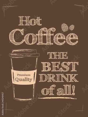 Retro Vintage Coffee Poster © NKMandic