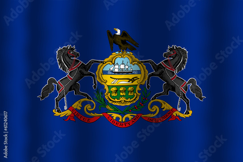 Waving Pennsylvania State Flag